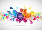 抽象彩色的背景与圈子. — 图库矢量图片