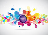 Abstract colored background with circles. — Stockvector