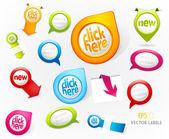 Set kleurrijke etiketten. — Stockvector