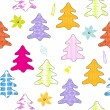 Christmas tree seamless pattern. — Stock Vector