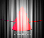 Christmas tree with transparent curtain background. — Stock Vector