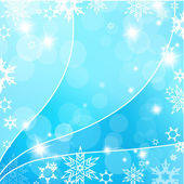 Christmas blue background with snow flakes. — Stock Vector