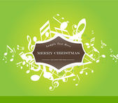 Abstract Christmas background with tunes. — Stock Vector