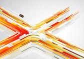 абстрактный оранжевый линии в x форму с местом для текста. — Cтоковый вектор