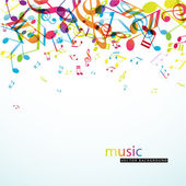 Abstract background with colorful tunes. — Stock Vector