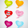 Set of Valentine's hearts. — Vector de stock