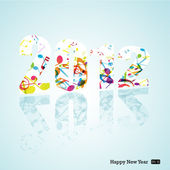2012 and Happy New Year — Stock Vector