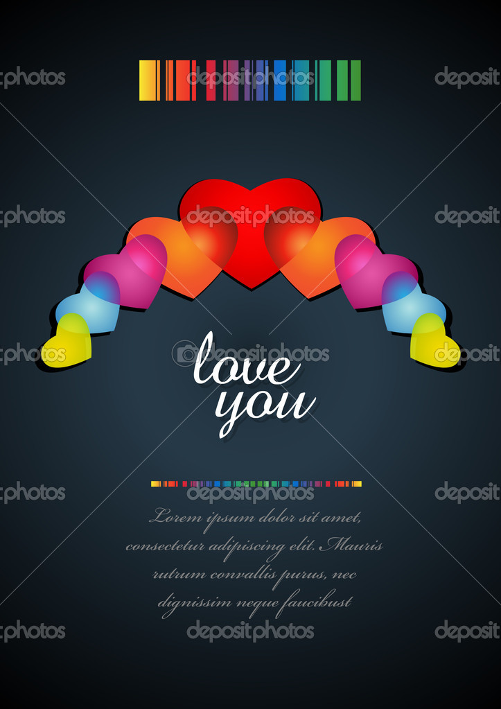 Valentine's day card. — Stock Vector #8441964