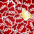Royalty-Free Stock Vector Image: Red and gold sale stickers.