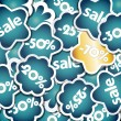 Blue and gold sale stickers. — Stock Vector