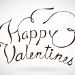 Happy Valentines day. — Vector de stock #9450792