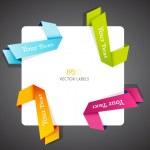 Color vector corner ribbons. — Stock Vector #9957230