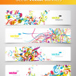 Set of abstract colorful web headers. — Imagens vectoriais em stock