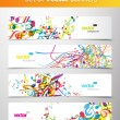 Set of abstract colorful web headers. — Image vectorielle
