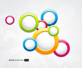 Abstract colorful background with circles. — Stock Vector