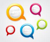 Conjunto de burbujas de discurso. — Vector de stock