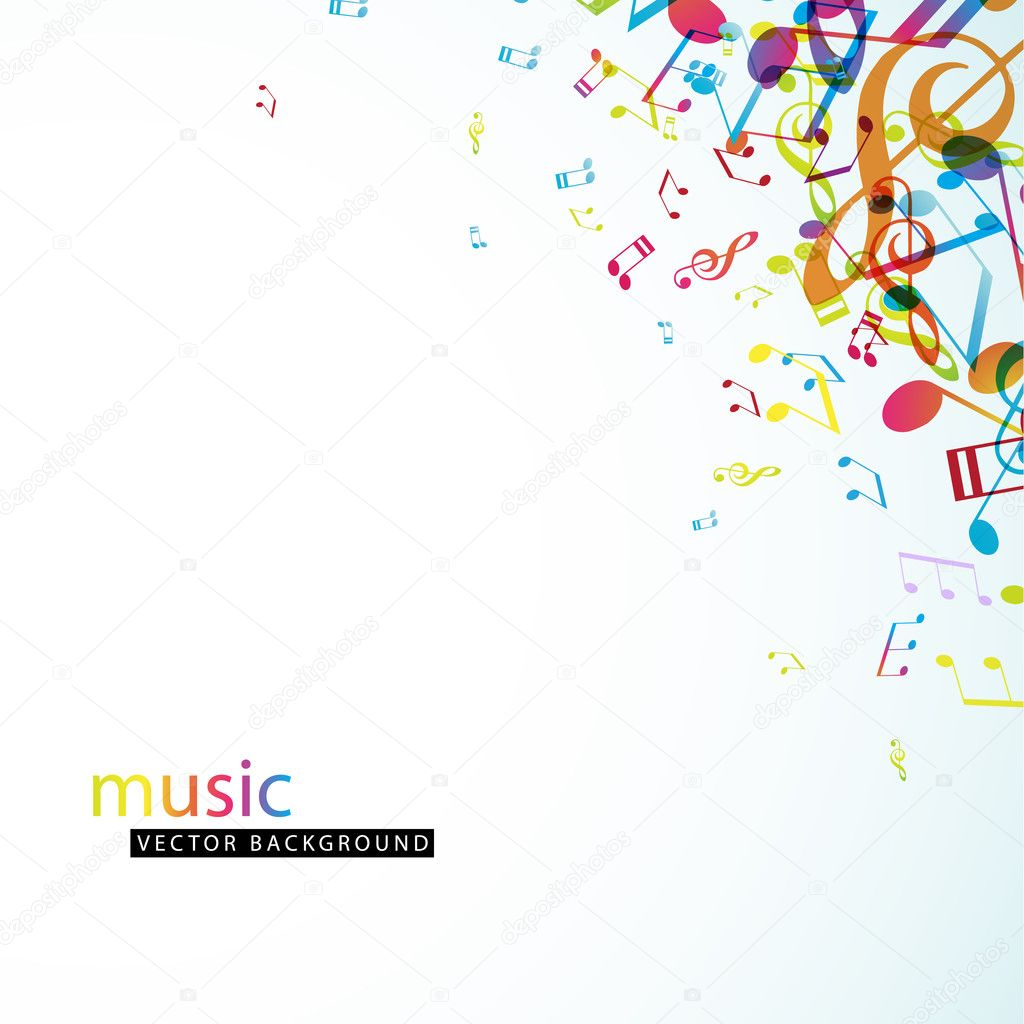 Abstract background with colorful tunes.  Stockvectorbeeld #9958049