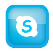 Blue Skype Icon — Stock Vector