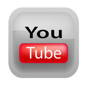 Icono moderno youtube — Vector de stock