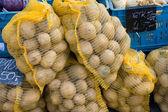 Bags of potatoes — Stock Photo