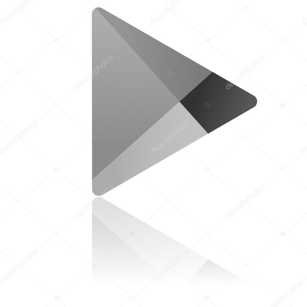 Google Play Logo Black and White