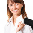 Happy smiling business woman, over white — Stock Photo #10463087