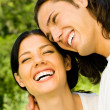 Happy couple together, outdoor — Stock Photo #10674063