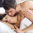Royalty-Free Stock Photo: Couple making love in bed