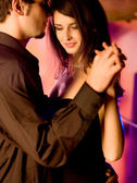 Young couple dancing — Foto Stock