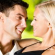 Happy couple together, outdoor — Stock Photo #9706620