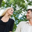 Happy couple together, outdoor — Stock Photo #9706725
