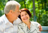 Senior happy couple embracing, outdoors — Photo