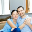 Young happy couple at home — Stock Photo #9966056