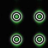 Green-eyed seamless pattern — Stock Photo