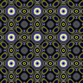 Yellowy-blue dark curlicue pattern. — Stock Photo