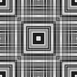 Colourless foursquare tile-able abstract pattern. — Stock Photo