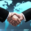 Handshake of two business — Photo