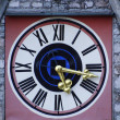 Stock Photo: Old Clock with romnumerals