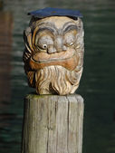 Carved Face — Stock Photo