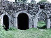 Castle, Ruin doors — Stock Photo