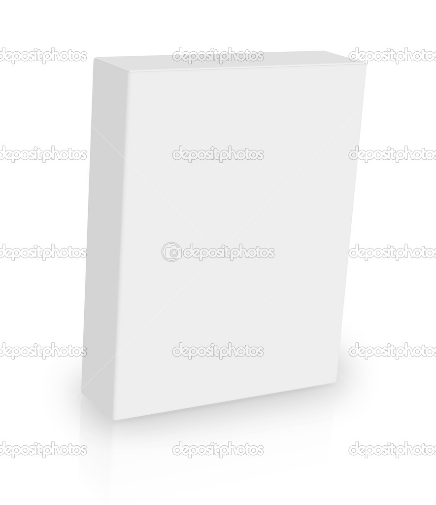 White box on white background — Stock Photo #8854168
