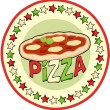 Pizza Badge — Stock Vector