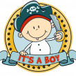 Cute little pirate boy - Stock Vector