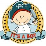 schattige kleine jongen van de piraat — Stockvector