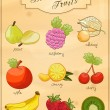 Delicious Fruits - Vector Set - Stock Vector