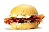 Bacon and egg bun. — Stock Photo