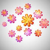 Mosaic Flowers — Stock Vector