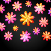 Mosaic Flowers — Vector de stock