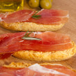 Typical cured ham from Spain - Stock Photo