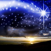 Star background of Christmas — Stock Photo